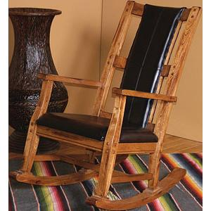 Rustic OakRocker w/Cushion