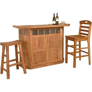 Rustic OakServing Bar
