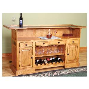 Rustic Oak78 Serving Bar