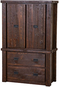 Barnwood 2-Drawer Armoire