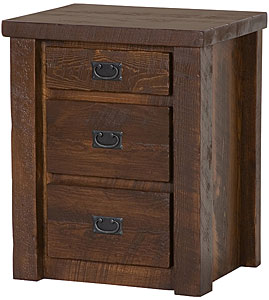 Barnwood 3-Drawer Nightstand
