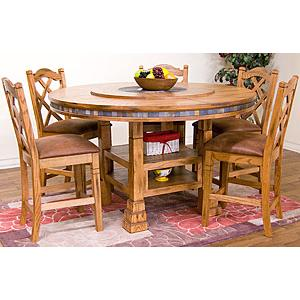 Rustic OakAdjustable Dining Table