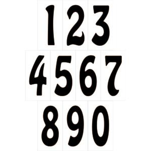 House Numbers: White