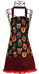 Corazones Kitchen Apron