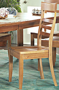 Saddle-Seat Dining Chair