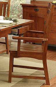 Heartland OakSaddle-Seat Arm Chair