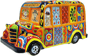 Talavera School Bus Planter