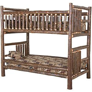 Hickory Log Bunk Bed