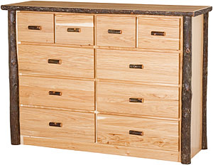 Hickory 10 Drawer Dresser