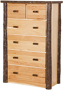 Hickory Tall 6 Drawer Dresser