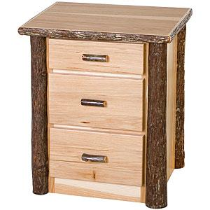 Hickory 3 Drawer Nightstand