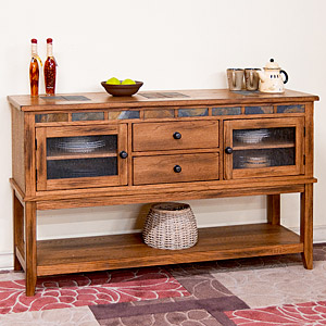 Rustic Oak2-Drawer Server