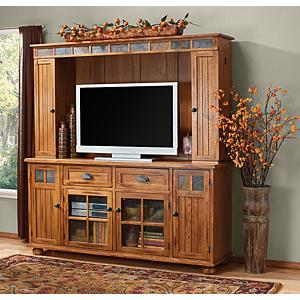 Rustic OakEntertainment Center
