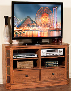 Rustic Oak48 TV Console