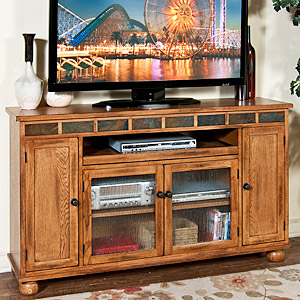 Rustic OakTall 62 TV Console