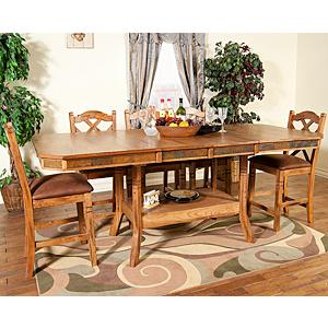 Rustic Oak Adjustable Table w/Butterfly Leaf