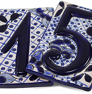 House Numbers:Classic Blue Talavera