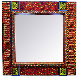 Square Chilis Mirror