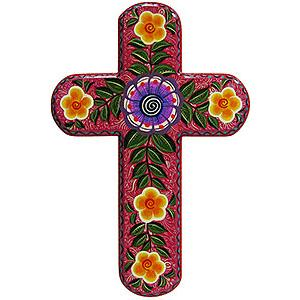 Cross by Alicia Lopez:Multicolored Flowers