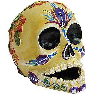 Skull w/ Raised Flowers