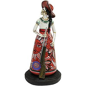Adelita w/Riflein Red Sun Dress