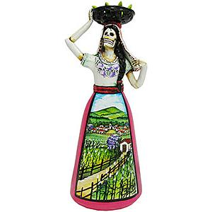 Catrina w/Basketin Farm Scene Dress