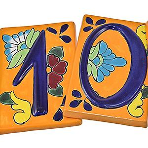 House Numbers:Orange Talavera