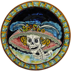 Day of the DeadXL Majolica Platter
