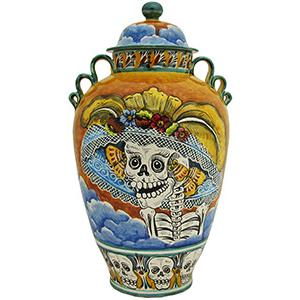 Day of the DeadLarge Majolica Ginger Jar