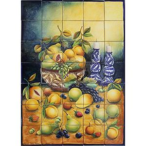 Fruit BasketMajolica Tile Mural