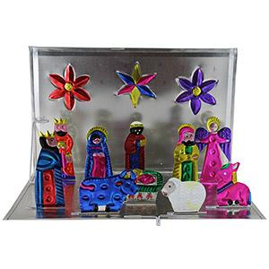 Pop-Up Tin Nativity Set