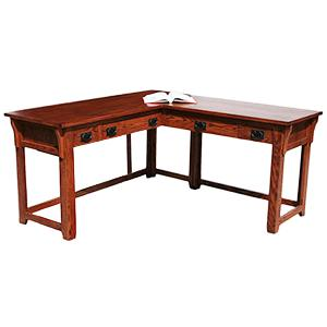 American Mission OakL-Shaped Laptop Desk