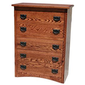 American Mission OakSmall 5-Drawer Dresser