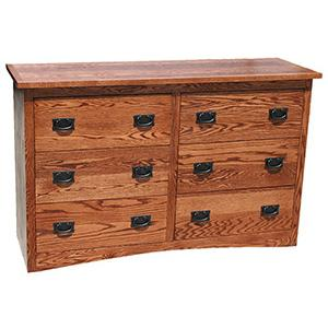 American Mission OakSmall 6-Drawer Dresser