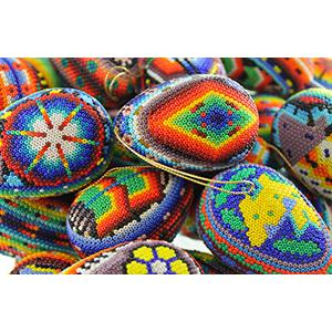 Large  Huichol Egg Ornaments