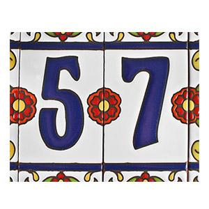 House Numbers:White Talavera