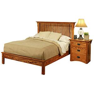 American Mission OakPlatform Bed