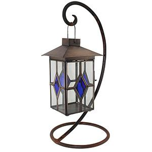 Blue DiamondTea Light Lantern