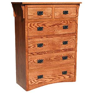 American Mission Oak6 Drawer Dresser