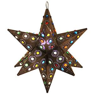 Ixtapa Star w/Marbles:Oxidized Finish