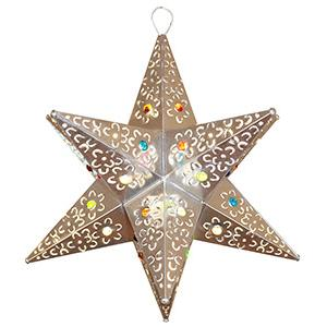 Cancun Star w/Marbles:Natural Finish