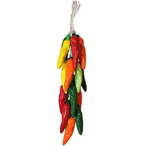 Ceramic Chili Ristras Collection Multicolor Cristalino