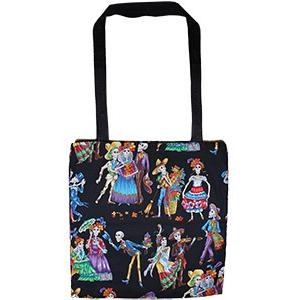 Skeleton DanceHalloween Tote Bag