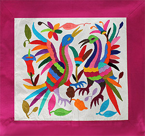Embroidered Otomi Pillowcase