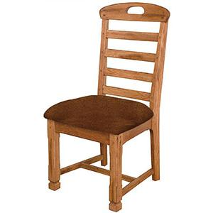 Rustic OakLadderback Chair w/Cushion