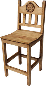 Short Lone Star Bar Stool