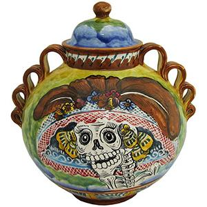 Day of the DeadSmall Majolica Ginger Jar