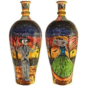 Day of the DeadXL Majolica Vase