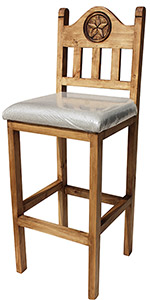 Tall Lone Star Bar Stool w/Cushion