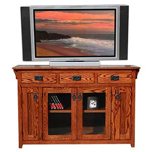 American Mission OakCounter Height TV Console